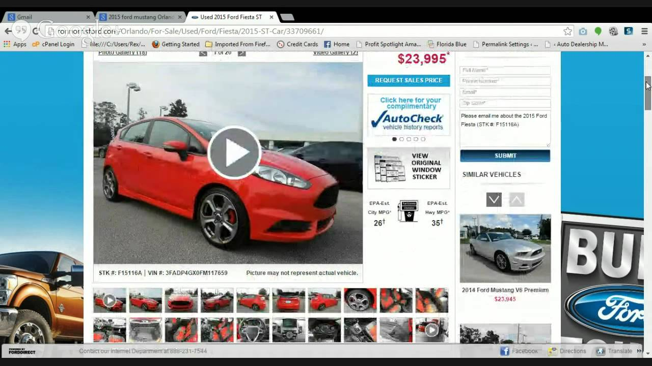 Ron Norris Ford >> 2015 Ford Fiesta St Fwd Orlando Ron Norris Ford Review Youtube