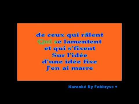 J'en Ai Marre - Alizée - Karaoké FKA