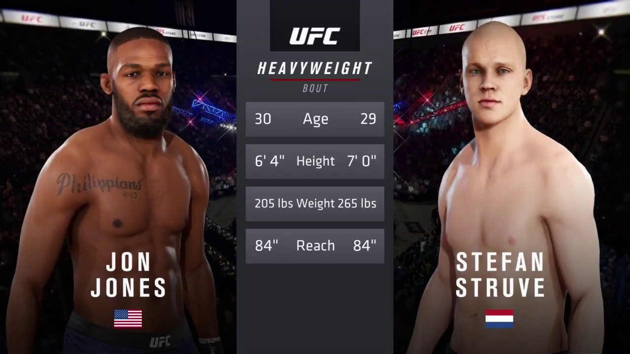 Download Jon Jones vs. Stefan Struve (EA sports UFC 3) - CPU vs. CPU - Crazy UFC 👊🤪