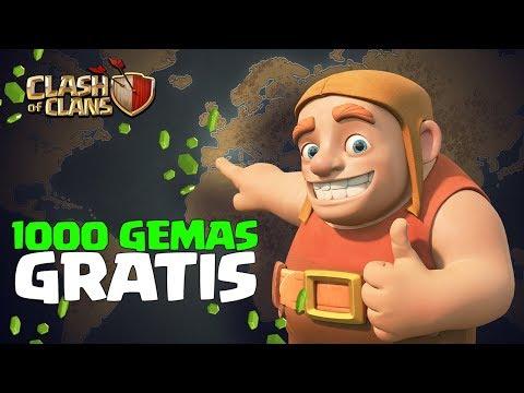 1000 GEMAS GRATIS TODA SEMANA NO CLASH OF CLANS!