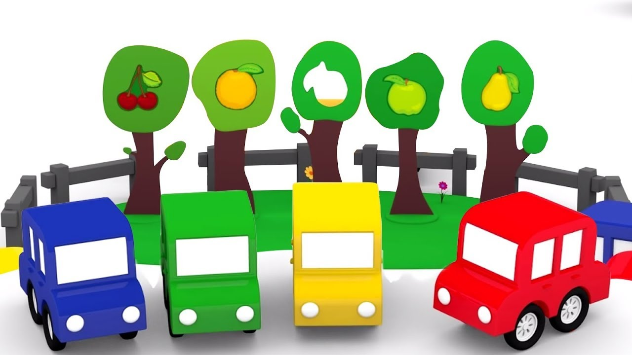 4 Carros Coloridos Desenhos Animados Para Criancas Aprender As