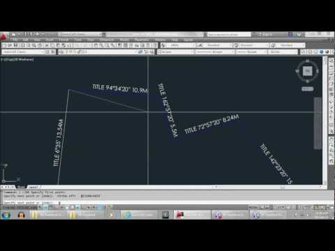 AutoCAD Tutorial - How to draw Site Title Boundary