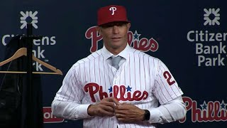 Gabe Kapler is introduced as the Phillies new manager
