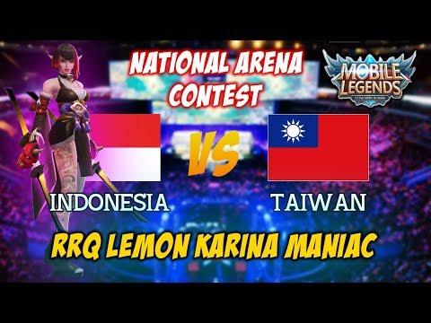 RRQ Lemon Best Player Karina Natinonal Arena Conest Indonesia vs Taiwan [Lemon Maniac]
