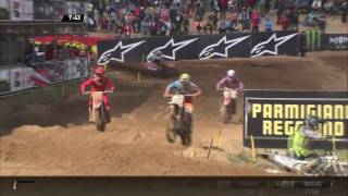 MXGP of Latvia Tim Gajser & Josè Butron Fight