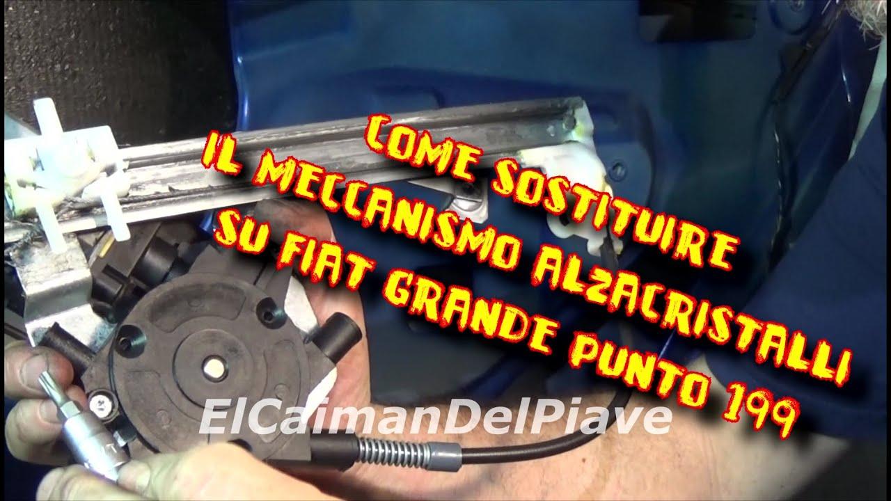 Schema Elettrico Alzacristalli Fiat Grande Punto : Tutorial sostituzione sostituire alzacristalli elettrico anteriore