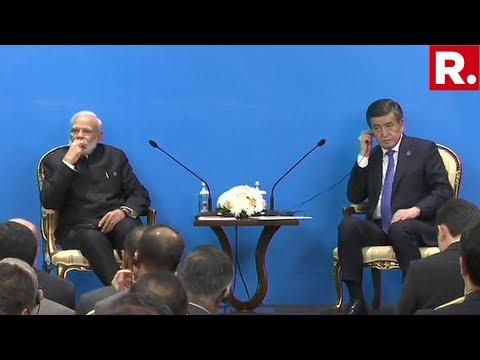 PM Modi And Kyrgyzstan President Sooronbay Jeenbekov Inaugurate The India-Kyrgyz Business Forum