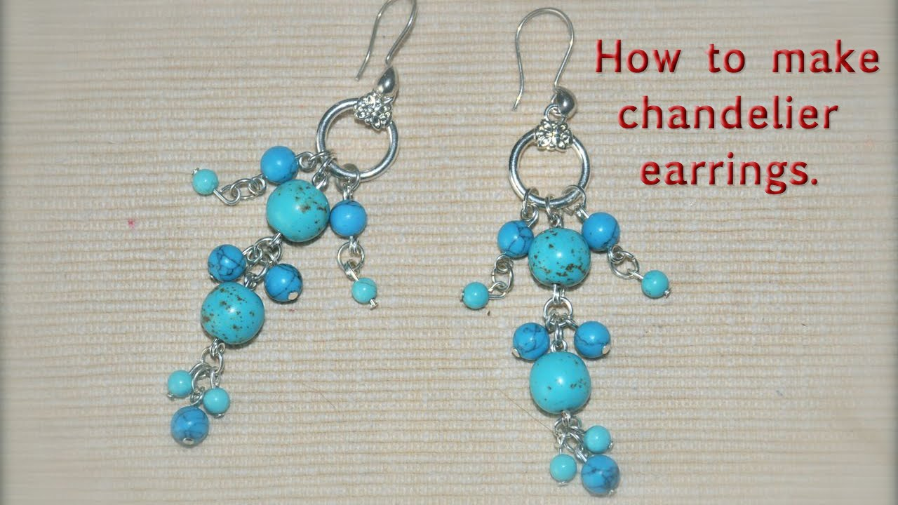 How to make chandelier earrings/DIY - YouTube