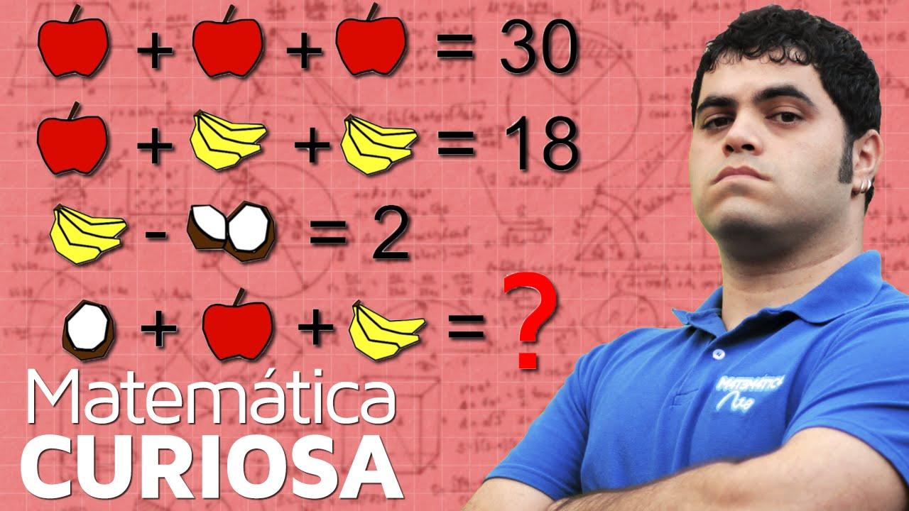 Desafio Da Maca Banana E Coco Sistema Das Frutas Matematica Rio Youtube