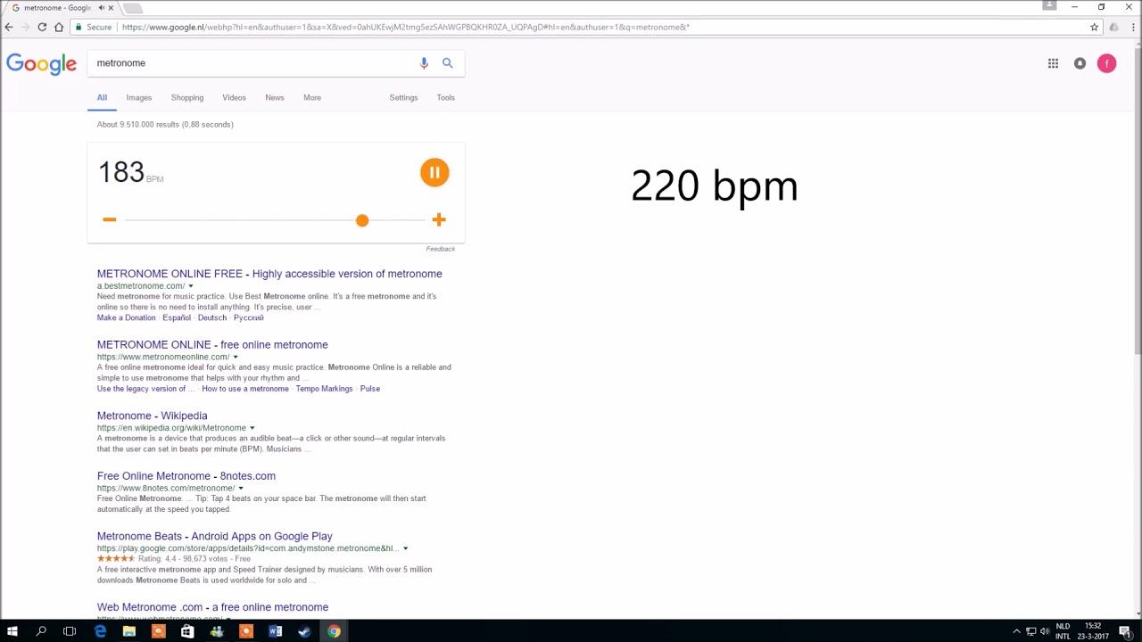 Metronome Google easter egg - YouTube