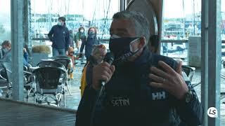 Très belle rencontre avec Manuel Cousin, qui prend le départ de son premier Vendée Globe le 8 nov !
