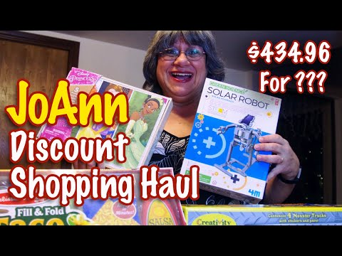 Joann Fabric Discount Haul: 60% Off Coupon: Toy Haul,  Christmas Haul & Free Stuff—$435 for $36