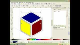 How to Create 3d Rubic In Inkscape.FLV