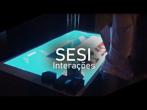Tela interativa na FIRJAN 2016 - Teatro do Sesi - RJ - UberGeek