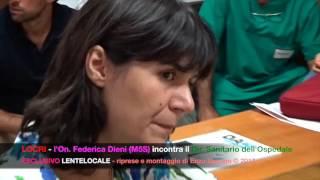 Locri l'on. Federica Dieni (M5S) visita l'Ospedale (by EL)