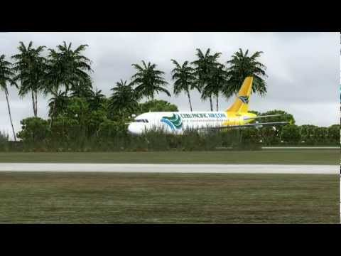 Landing at Fua'amotu International Airport