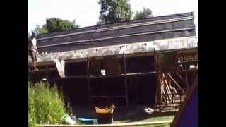 Claire Barratt Straw-bale  Workshop Construction Roof  - Pt2