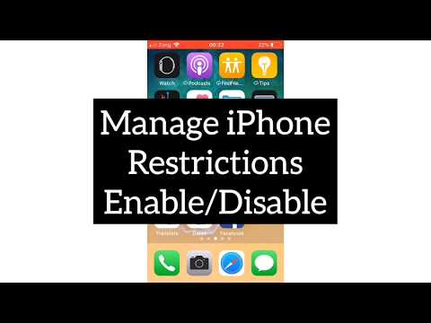 How to restrict iphone 6s plus