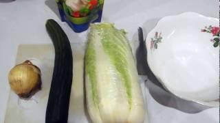 Салат из пекинской капусты, на скорую руку №2.