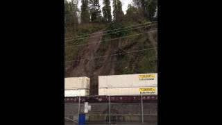 Landslide Derails Train. This is the ORIGINAL video