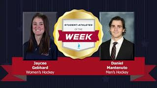 Student Athletes of the Week 12.5.18