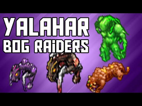 [Tibia Where To Hunt – EK 50+] Yalahar Bog Raiders (460k/hr @ 112)