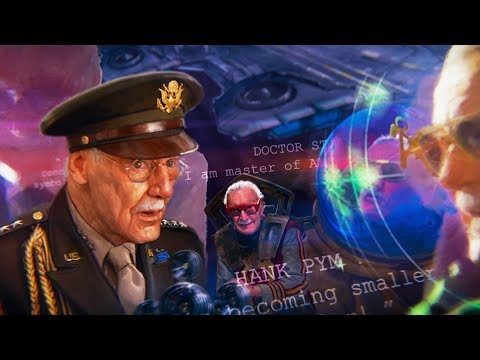 Вступительная заставка MARVEL со Стэном Ли (Все камео Стэна Ли) Капитан Марвел (2019)