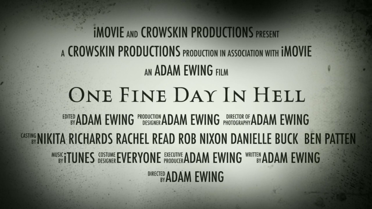 Ben Patten - One Fine Day in Hell: Movie Trailler Voi   StarNow