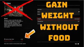 How to gain weight in Red Dead Redemption 2 Online or *SECRET* UNLIMITED WEIGHT GLITCH ;)