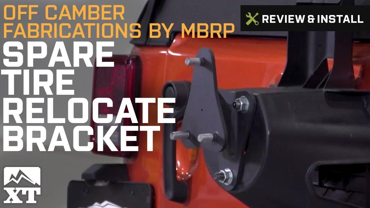 MBRP Spare Tire Relocate Bracket 07-17 Jeep Wrangler JK 130718