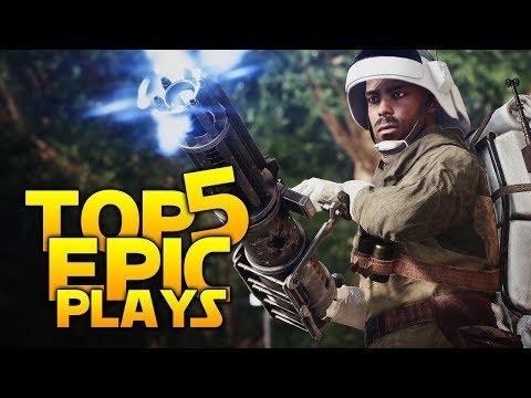 Star Wars Battlefront 2 Top 5 EPIC Plays: Lightsaber Mastery!