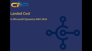 Dynamics NAV 2016 Landed Cost