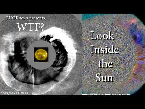 WTF? Big Solar CME Blast. Look inside the Sun. What do you see?