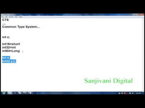 Dot NET Class #3 |  Introduction About Common Type System CTS