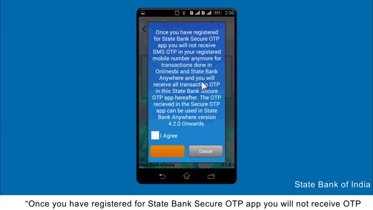 Secure OTP App Download and register (Video Created as on December 2016)