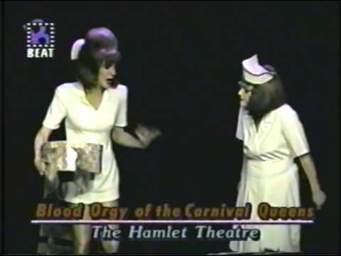"""BLOOD ORGY OF THE CARNIVAL QUEENS! on Manhattan Cable's """"Broadway Beat"""" 1994"""
