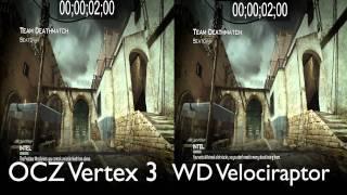 OCZ Vertex 3 SSD vs WD Velociraptor HDD - SSD Wins