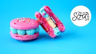 One of The Scran Line's most viewed videos: BUBBLEGUM BIRTHDAY CAKE MACARONS- The Scran Line