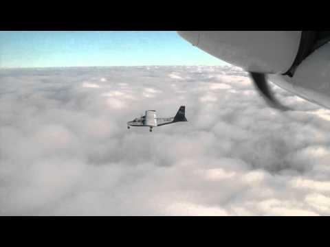 Air Hamburg Formation Flight to Sylt  BN2 Britten Norman  Islander  HD Gopro