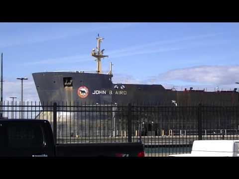 John B. Aird Self Unloading Vessel upbound near Soo Locks 2014