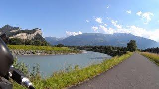 Видео регистратор на велосипеде / 100 км / Вело прогулка / Альпы - Рейн / Швейцария 07.2016(, 2016-07-13T16:03:27.000Z)