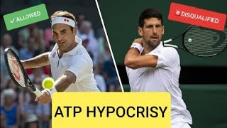 ATP Hypocrisy, Djoković disqualified and No Disqualification for Federer after hitting a ball boy