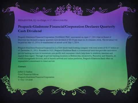 Peapack Gladstone Financial Corporation