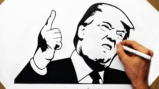 How to Draw Angry Donald Trump - Happy American President | Viral Drawing