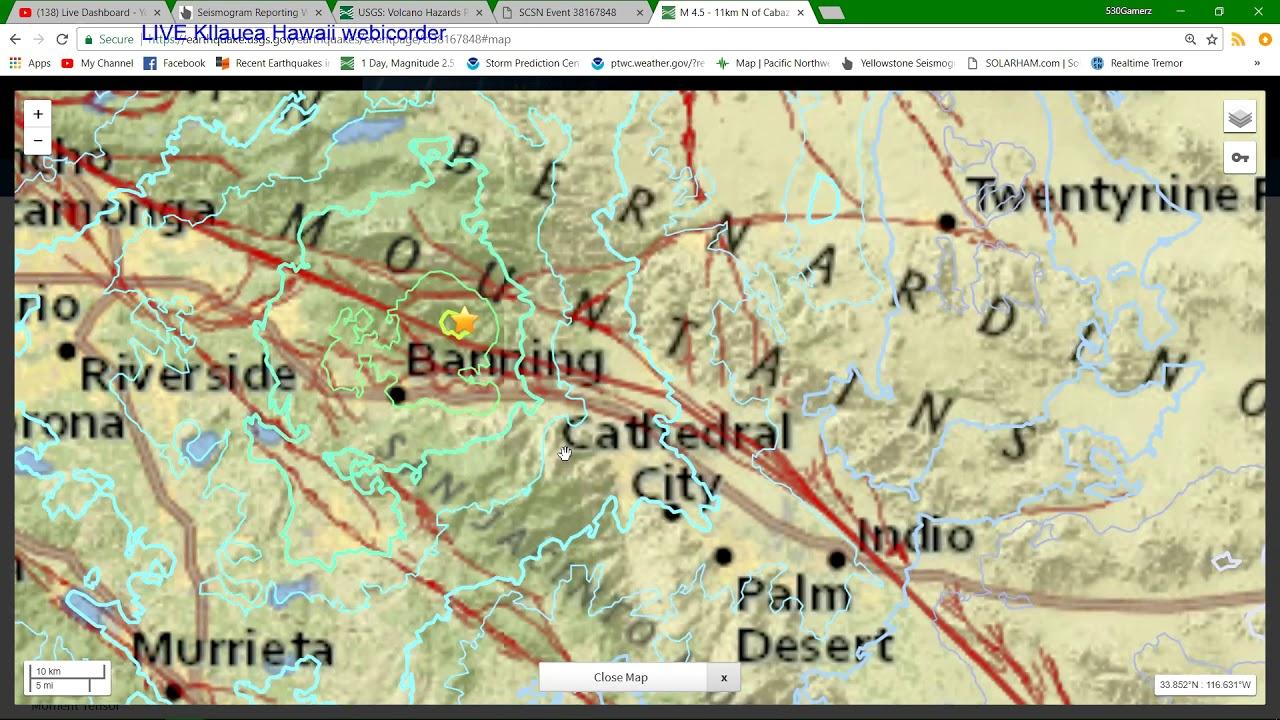 45 Earthquake hits Southern California KILAUEA VOLCANO