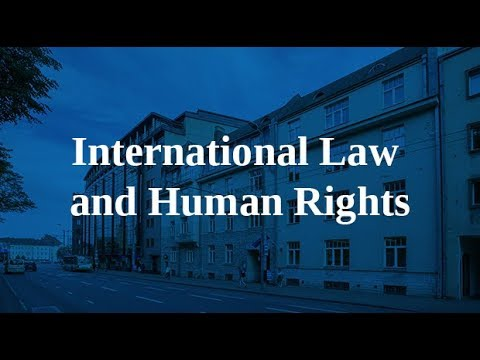 Info Session for MA programme in International Law and Human Rights