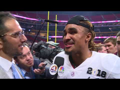 Jalen Hurts on having Tua Tagovailoa finish off the Georgia Bulldogs