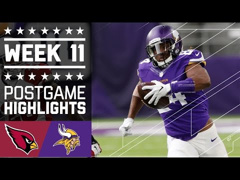 Cardinals vs. Vikings | NFL Week 11 Game Highlights