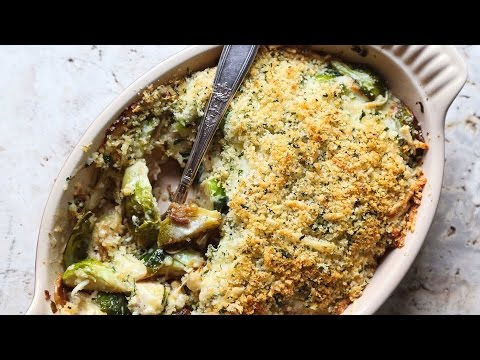 Easy Cheesy Brussels Sprouts Gratin