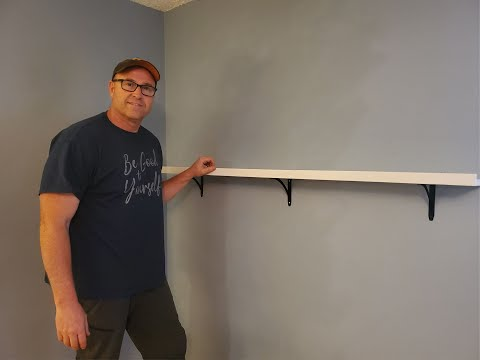 How to put up a shelf.